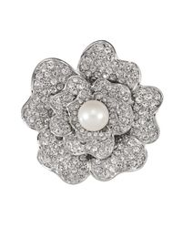 Carolee | Metallic Pansy Flower Pin | Lyst