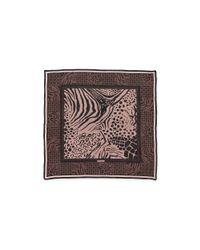 Ferragamo - Natural Ghana Sheer Square Silk Scarf - Lyst