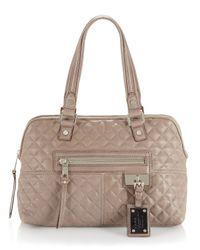 L.A.M.B. | Gray Marlene Quilted Satchel Slate | Lyst