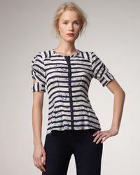 Nanette Lepore | Black Prancing Striped Top | Lyst