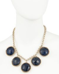 Kendra Scott | Natasha Station Necklace Blue Agate | Lyst
