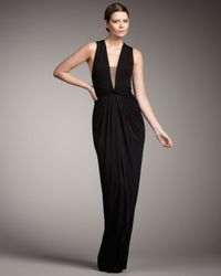 Robert Rodriguez - Black Rosie V-neck Gown - Lyst