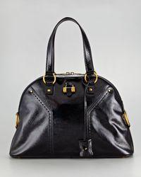 Saint Laurent - Black Patent Leather Muse Bag - Lyst