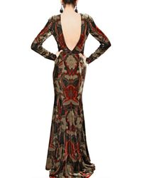 Etro | Multicolor Printed Viscose Silk Velvet Long Dress | Lyst