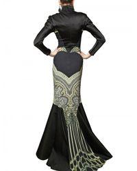 Etro | Multicolor Silk Satin On Printed Viscose Cady Dress | Lyst