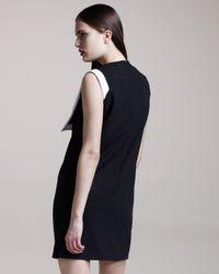 Givenchy | Black Fold-collar Shift Dress | Lyst