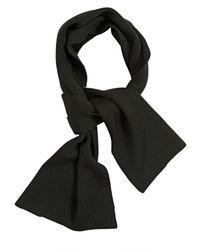 Kris Van Assche - Black Ribbed Knit Wool Scarf for Men - Lyst