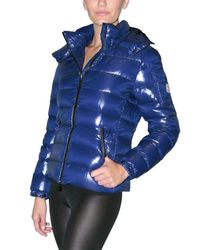 Moncler | Blue Bady Hooded Down Jacket | Lyst