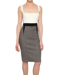 Antonio Berardi | Gray Harris Tweed Wool Dress | Lyst