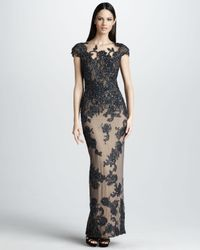 Mandalay - Gray Capsleeve Gown - Lyst