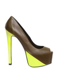Ruthie Davis - Brown 150mm Leather Neon Patent Hamel Pumps - Lyst