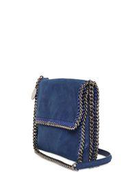 Stella McCartney | Blue Falabella Shaggy Deer Shoulder Bag | Lyst