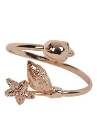 Alexander McQueen - Pink Gold Skull and Claw Bangle - Lyst