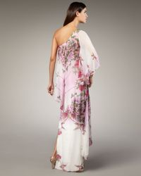 Notte by Marchesa | Multicolor One-shoulder Caftan Gown | Lyst