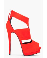 Giuseppe Zanotti | Red Suede Sharon Pumps | Lyst