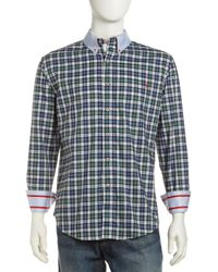 Robert Graham - Blue Mcklintock Check Sport Shirt for Men - Lyst