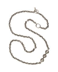 Hoorsenbuhs | Metallic Silver Diamond Toggle Necklace | Lyst