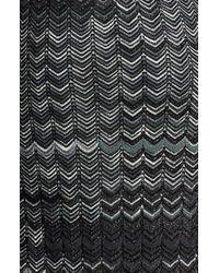 Missoni | Gray Zigzag Knit Dress | Lyst