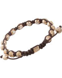 Shamballa Jewels - Beaded Bracelet with 19 Yellow Gold and Diamonds Beads 6mm - Lyst