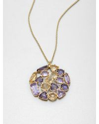 kate spade new york - Metallic Multicolor Stone Cluster Pendant Necklace - Lyst