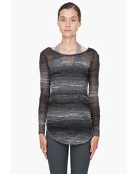 Helmut Lang | Gray Charcoal Mohair Blend Pullover | Lyst