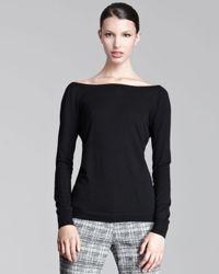 Lela Rose | Black Vback Sweater | Lyst
