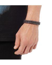 Miansai - Gray Waypoint Woven Leather Bracelet for Men - Lyst