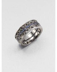 Stephen Webster | Black Rhodium Blue Sapphire Ring for Men | Lyst
