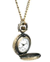 ASOS - Metallic Chunky Design Pocket Watch Necklace for Men - Lyst