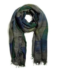 Faliero Sarti | Green Forest and Lake Plaid Zirla Scarf | Lyst