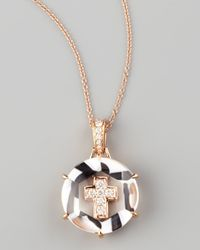 Frederic Sage | Metallic Jelly Cross Pendant Necklace | Lyst