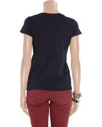 James Perse | Blue V-neck T-shirt | Lyst