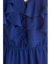 ModCloth | Drop Everything Top in Blueberry | Lyst