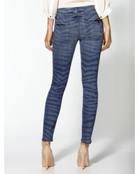 7 For All Mankind | Blue The Crop Skinny Jeans | Lyst