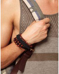 ASOS - Brown Koyo Bracelet Pack for Men - Lyst