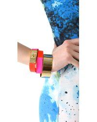 CC SKYE - Pink Portico Colorblocked Bracelet - Lyst