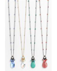 Dabby Reid | Blue Ltd Zoe Long Crystal Cluster Pendant Necklace | Lyst