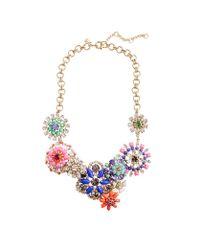 J.Crew | Multicolor Flower Lattice Necklace | Lyst
