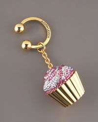 Judith Leiber | Metallic Strawberry Cupcake Key Fob | Lyst