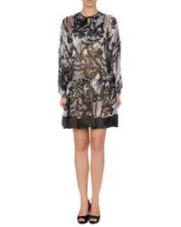 Just Cavalli | Black Short Dress | Lyst