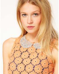 Swarovski | White Rhinestone Collar Necklace with Stones | Lyst