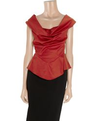 Vivienne Westwood Anglomania - Red Marghi Cotton Off-the-shoulder Blouse - Lyst