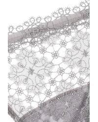 La Perla - Gray Misaki Lace Thong - Lyst