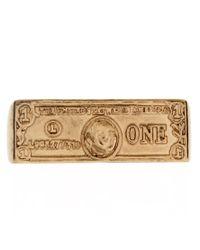 ASOS - Metallic Double Dollar Bill Ring for Men - Lyst
