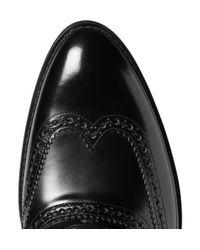 Dolce & Gabbana - Black Highshine Leather Wingtip Brogues for Men - Lyst