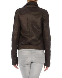 Hussein Chalayan | Brown Leather Outerwear | Lyst