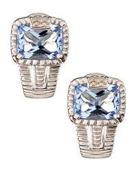 Judith Ripka | Metallic Roma J Hoop Earrings | Lyst
