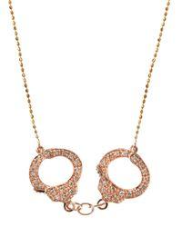 Sydney Evan - Metallic Diamond Pave Handcuff Necklace - Lyst