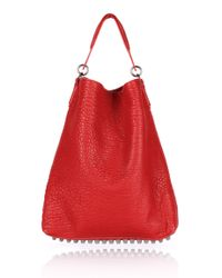 Alexander Wang | Red Darcy in Cayenne Pebble Lamb with Black Nickel | Lyst
