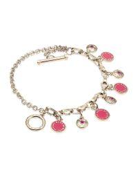 Marc By Marc Jacobs | Pink Enamel Disc Charm Bracelet | Lyst